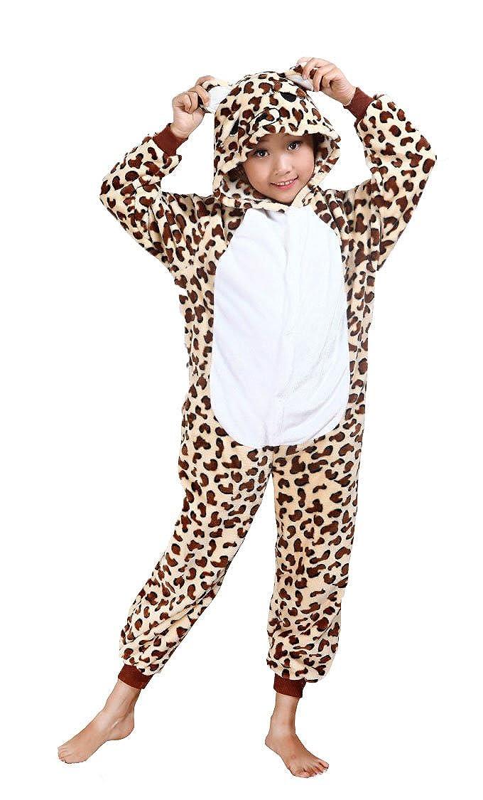 Cliont Animales de los niños Onesie del guepardo pijama de la ropa de noche de Navidad niño del traje del Anime de Cosplay: Amazon.es: Ropa y accesorios