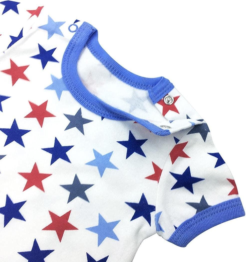 Memela Baby Boys Girls Jumpsuit,Infant Baby Romper Boy/&Girl Stripe Star Letter Print Jumpsuit Outfits Clothes