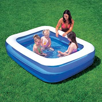 Swimmingpool im garten kinder  Familien Pool Kinder Planschbecken 201 x 150 x 51 cm: Amazon.de: Garten