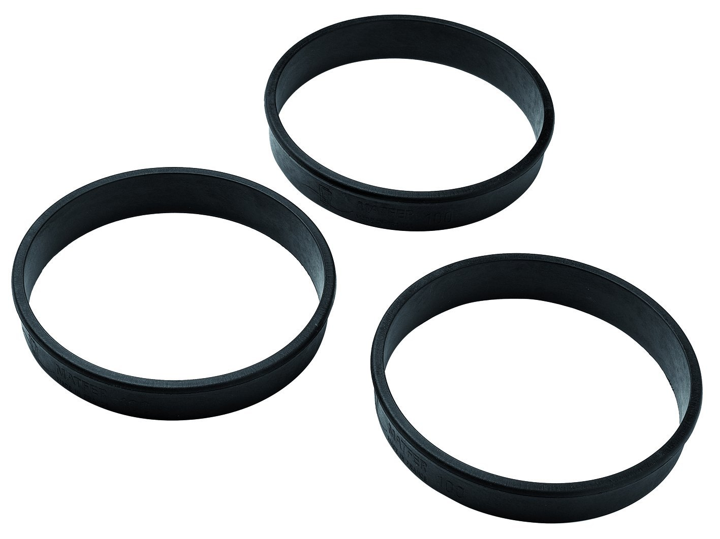 Matfer Bourgeat 346705 Exoglass Tart Rings, 3-1/6-Inch, Black by Matfer Bourgeat