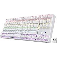 RK ROYAL KLUDGE RK87 Sink87G RGB 80% Mechanical Keyboard, Wireless 2.4G Tenkeyless Mechanical Keyboard with Programmable…