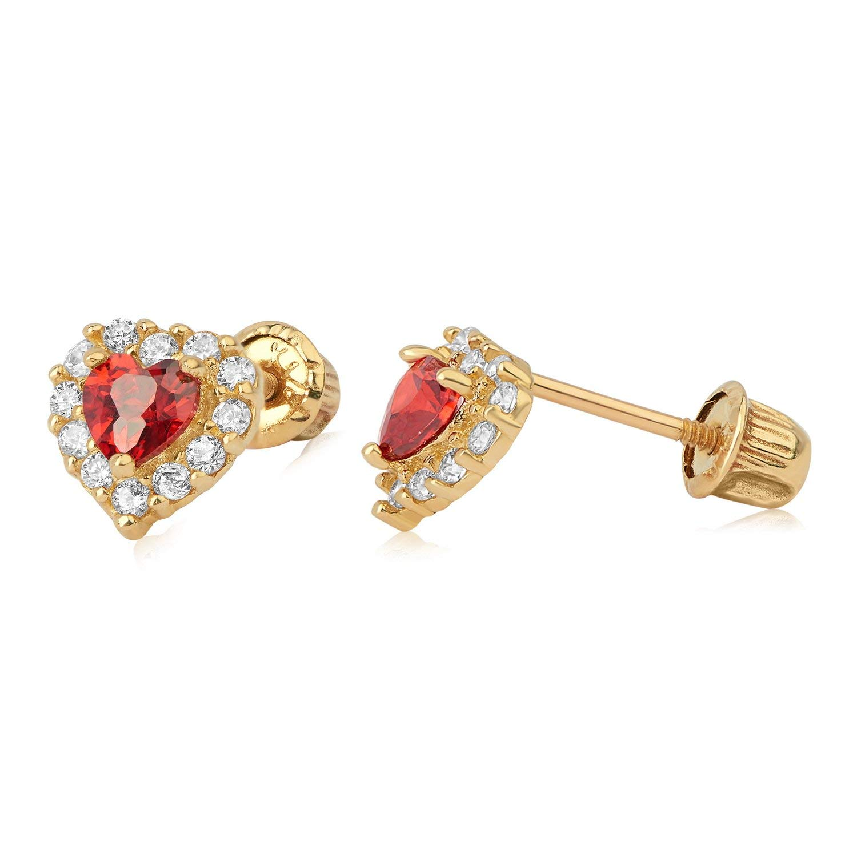68ad8abbd Amazon.com: 14kt YG Heart Stud Earrings 901 42200: Jewelry
