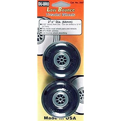 "Du-Bro 250T 2-1/2"" Diameter Treaded Surface Wheel (2-Pack): Toys & Games"
