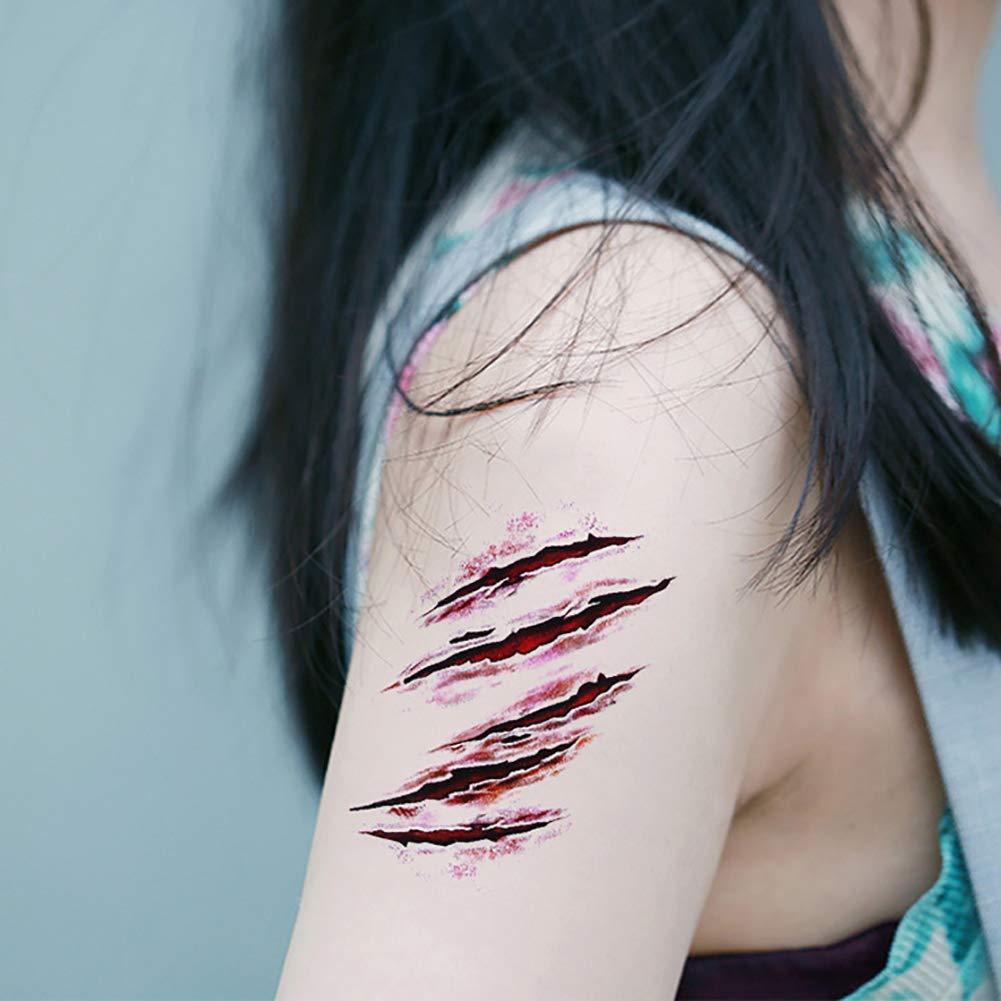 5 Hojas De Halloween Del Zombi Cicatrices Vampiro Tatuaje Horror ...