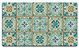 Kitchen Floor Tile Counter Art 'Moroccan Tiles' Anti Fatigue Floor Mat, 30 x 20