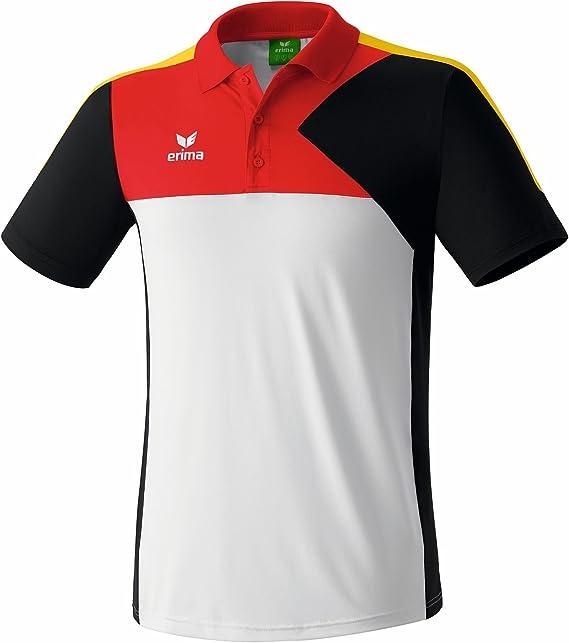 erima Premium One - Polo Deportivo para Adultos Weiß/Schwarz/Rot ...