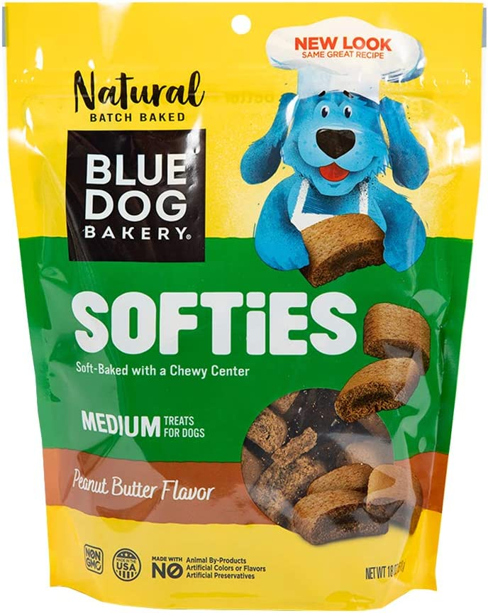 Blue Dog Bakery Natural Dog Treats, Softies, Peanut Butter Flavor, 18oz (1 Count)