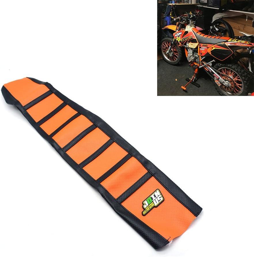 Cubierta de Asiento Suave del agarrador para KTM 125 144 150 250 350 450 SX SXF XC XCF XCW 2016 Naranja/Negro