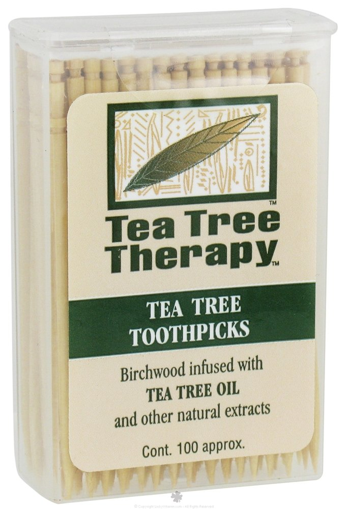 Tea Tree Therapy Toothpicks, 100 ct by Tea Tree Therapy (Pack of 3)