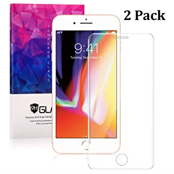 competitive price a65c1 4262b [2 Pack] Dtdepth iPhone 8 Plus, 7 Plus, 6S Plus, 6 Plus Screen Protector -  iPhone 5.5 Inch Full...