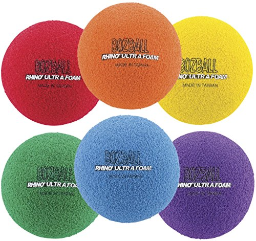 Champion Sports Rhino Foam No Bounce Ball Set (Multi) (Yellow Rhino)