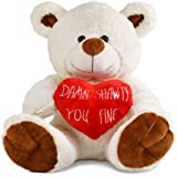 Tmacker Teddy Bear Stuffed Animals Plush Bear & Heart,Gifts for Her Girlfriend,Wife Valentines Day,Funny Gifts for Kids Women