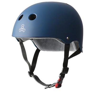 Triple 8New York 3613économiseur de la transpiration en caoutchouc de casque de Cert, Bleu marine, S/M