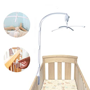Hinataa 88cm Baby Crib Mobile Bed Bell Holder Arm Bracket With Wind
