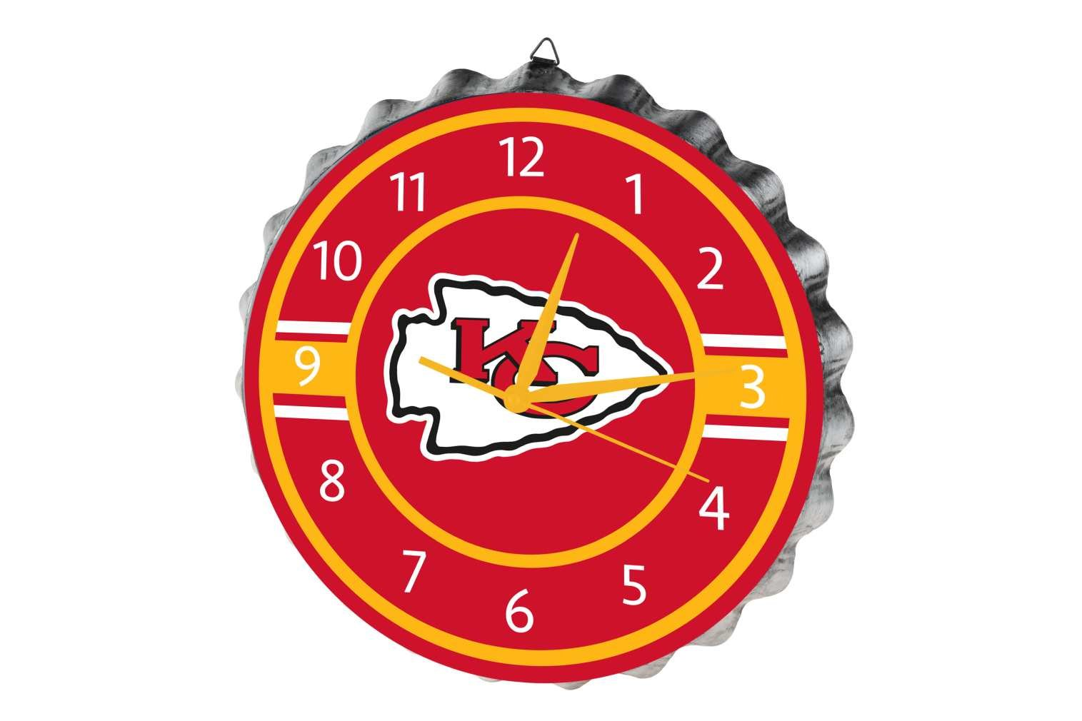 Kansas City Chiefs Bottlecap Clock by FOCO