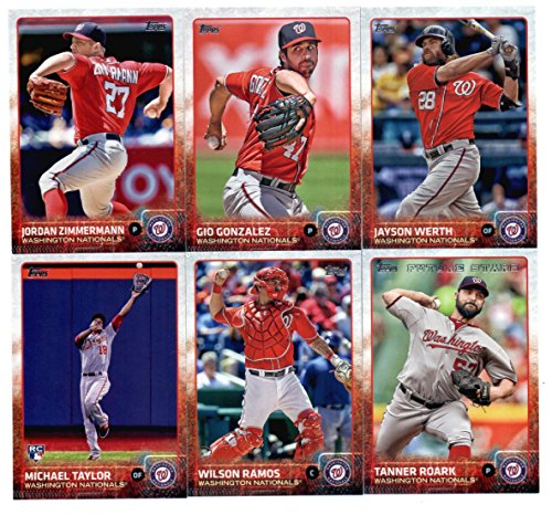 2015 Topps Baseball Cards Washington Nationals Team Set (Series 1- 12 Cards) Including Jayson Werth, Tanner Roark, Jordan Zimmermann, Gio Gonzalez, Wilson Ramos, Doug Fister, Michael Taylor Team Card, Bryce Harper, Anthony Rendon, Ryan Zimmerman, Danny Espinosa