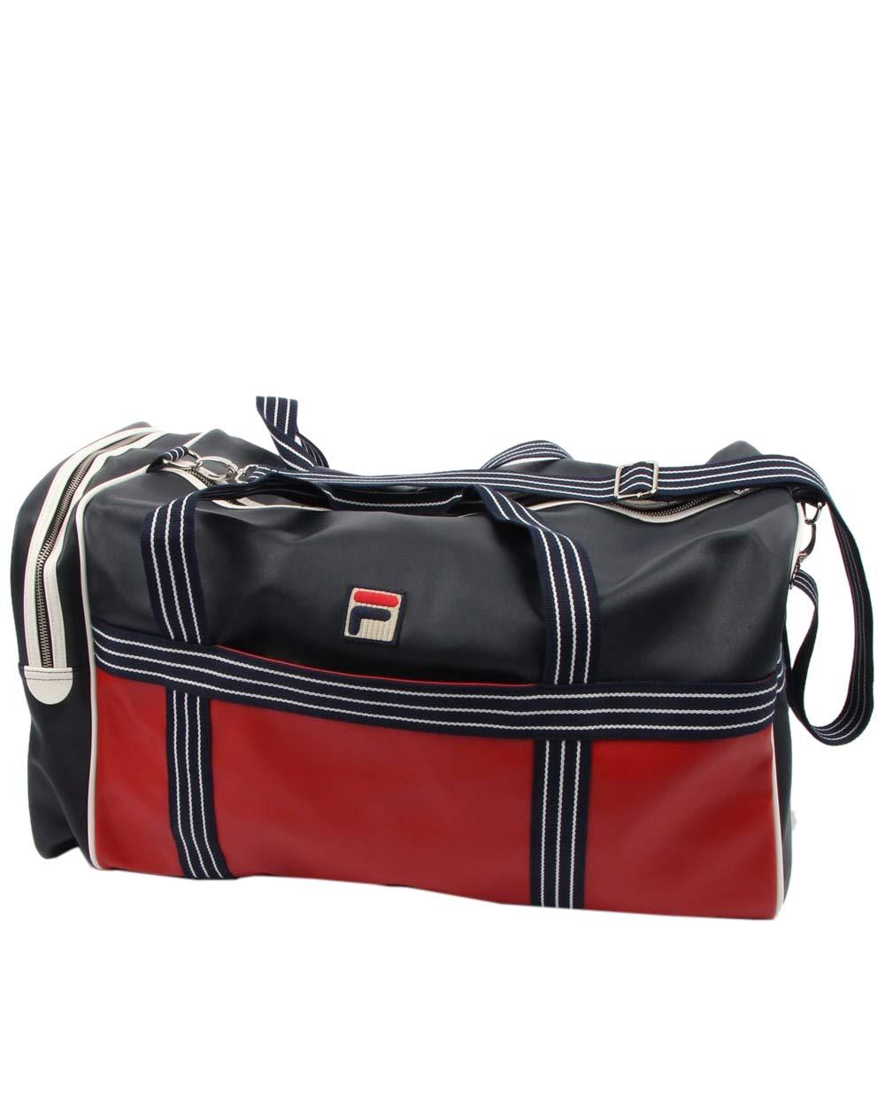 Fila Landon Holdall Bag (Peacoat/Chinese Red-White, One_Size)