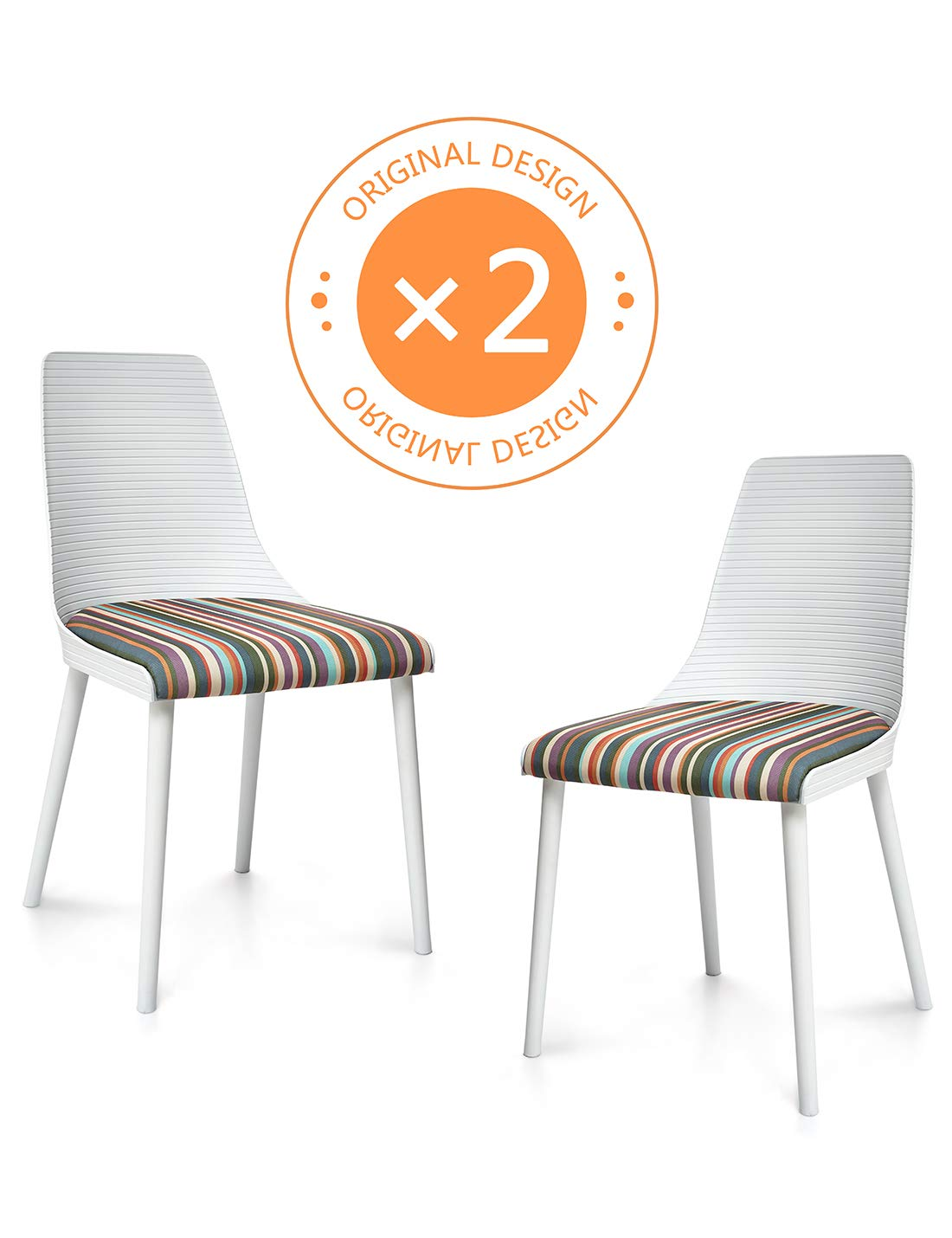 Suhu Lot De 2 Chaises Salle A Manger Design Chaise Empilable Bistrot