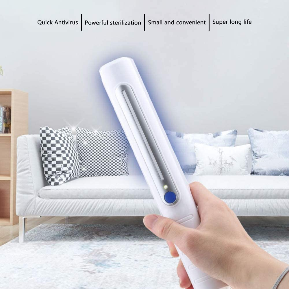 ANEWSIR UV Desinfektion Lampe Antibakterielle Rate 99/% Handheld Tragbare UV Sterilisations Desinfizieren Licht,F/ür Haushaltsluftreiniger zur Desinfektion von Bakterien und Viren