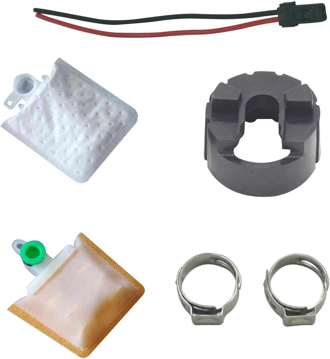 AUKONGT High Performance Electric Intank Fuel Pump and Install Kit Compatible with 1996-2010 FORD F-250 F-350 F-450 F-550 Jaguar Lincoln Mazda Mercury E2386 E2314
