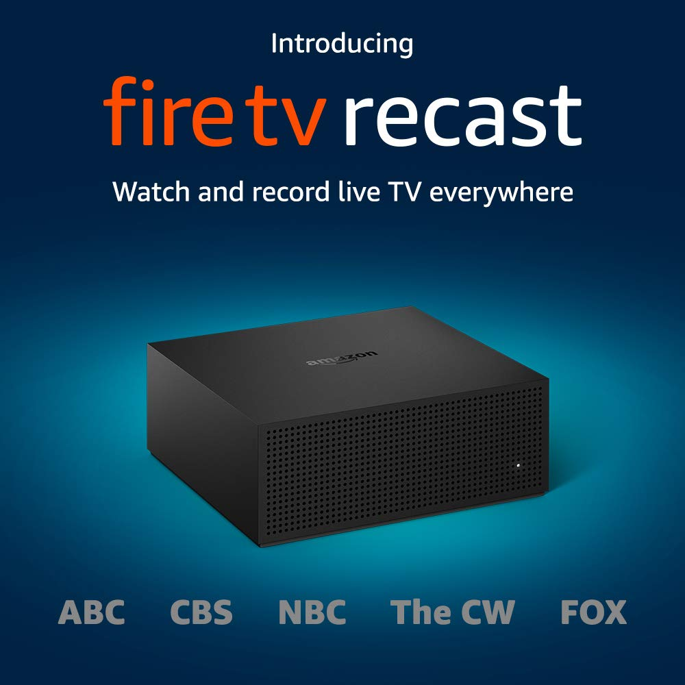 Amazon Fire TV Recast, over-the-air DVR, 500 GB, 75 hours