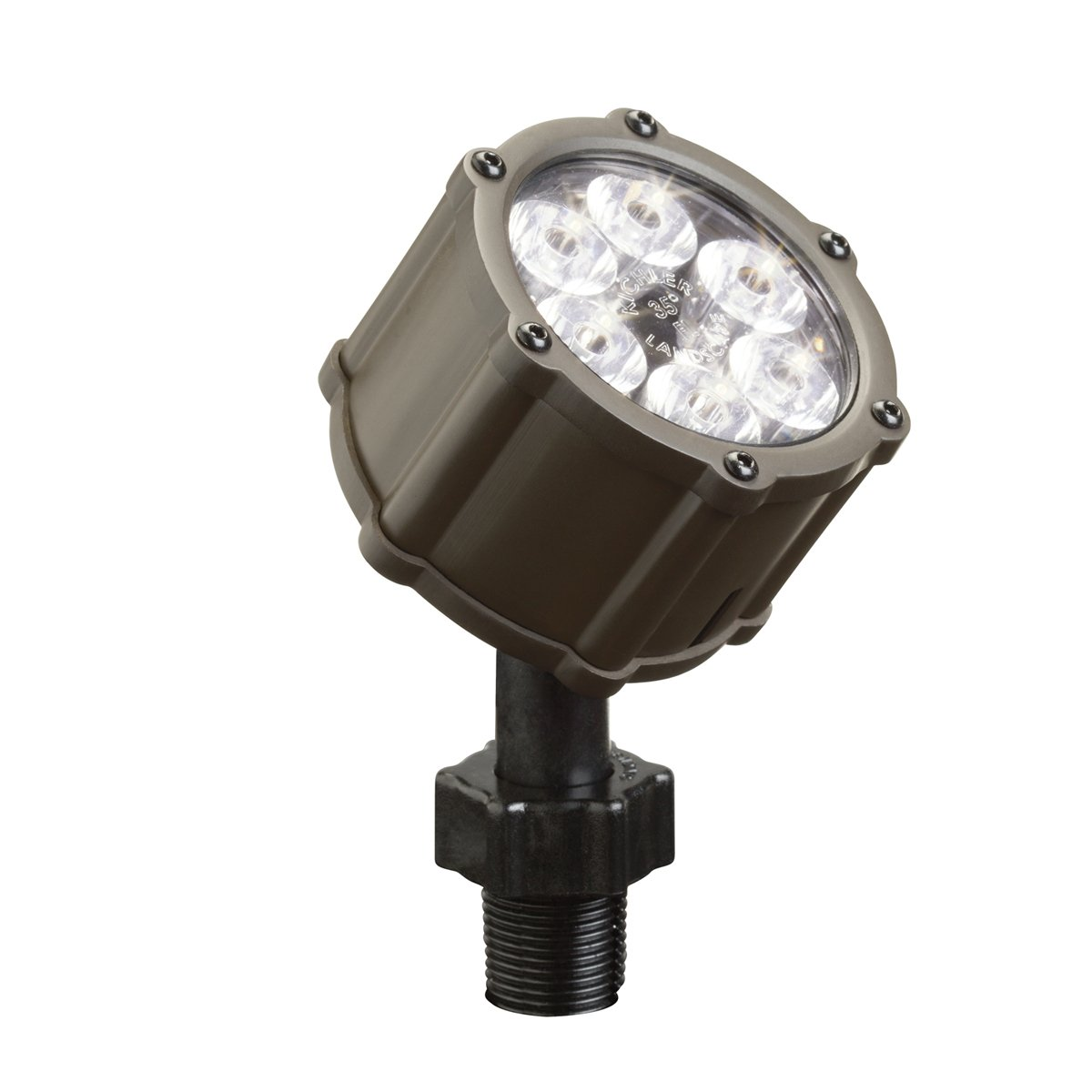 Kichler lighting 15742azt led accent light 6 light low voltage 35 kichler lighting 15742azt led accent light 6 light low voltage 35 degree flood light textured architectural bronze with clear tempered glass lens mozeypictures Image collections