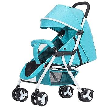 Eeayyygch Baby Pram - Carrito Plegable de 4 Ruedas para bebés, fácil de Llevar a Cabo, ...