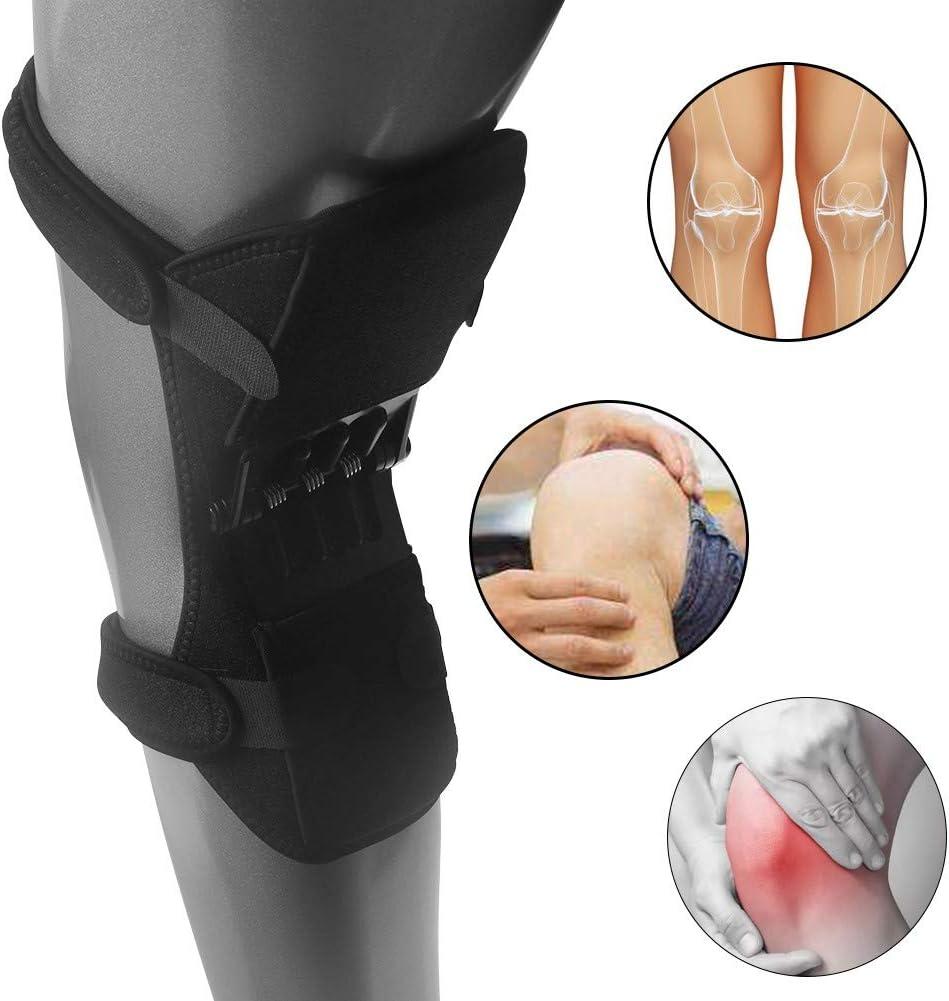 XCY Knie-Booster-Klammer Einstellbare Feder Kniegelenkschutz Gamaschen Zur Linderung Von Knieschmerzen F/ür M/änner Und Frauen