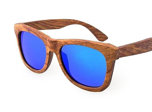 09e7665947 TORMROAD(TM) Zebra Wood Sunglasses For Men And Women Polarized Lenses UV400  With Wooden
