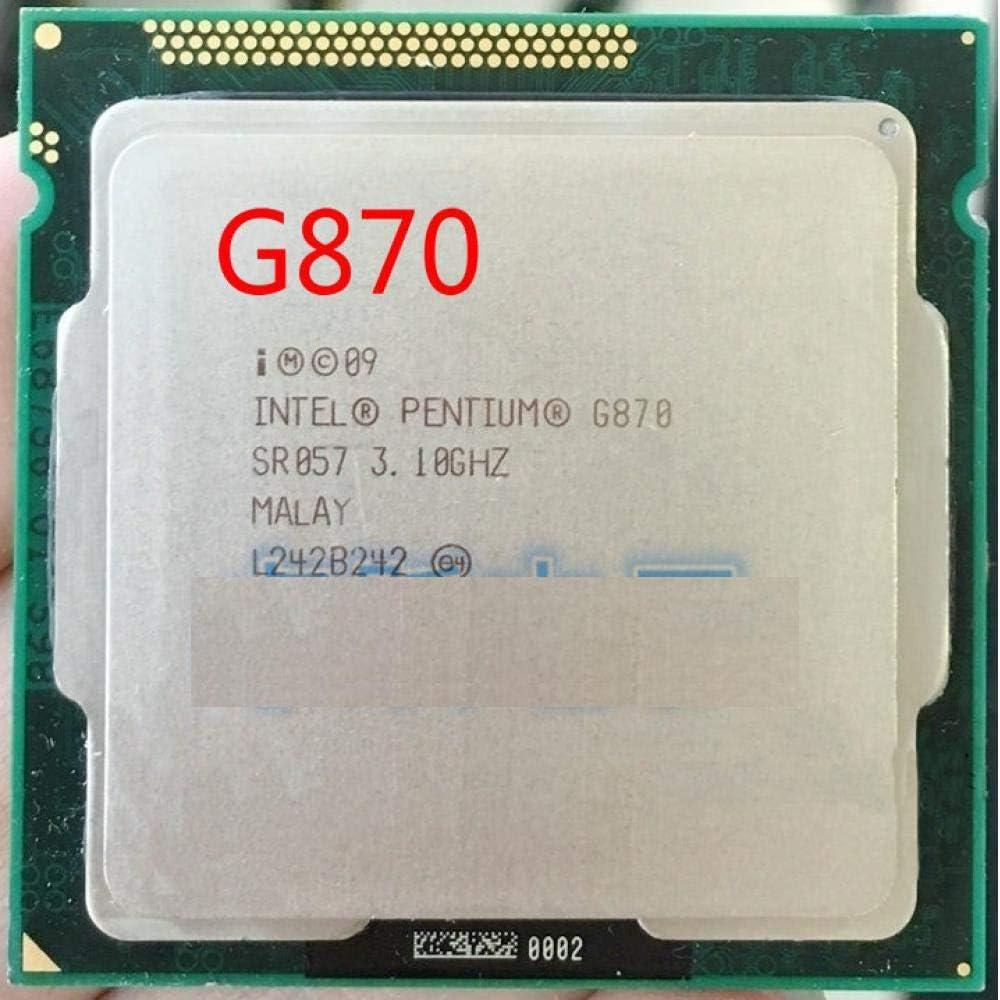 Socket LGA 1155 Desktop CPU Lntel G870 CPU Processor Dual-Core 3.1Ghz //L3=3M//65W Working 100/%