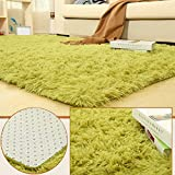 BlueSnail Super Ultra Soft Modern Shag Area Rugs, Bedroom Livingroom Sittingroom Floor Rug Carpet Blanket for Children Play Home Decorate (4' x 5.3', Rectangle, Grass Green)