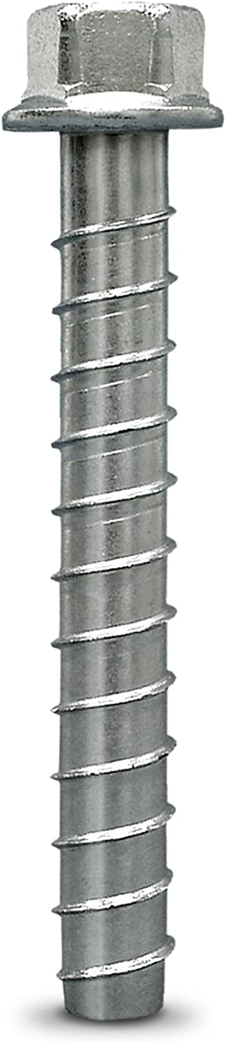 50 per Pack Simpson Strong Tie THD37500H 3//8-Inch by 5-Inch Titen HD Zinc Plated Heavy Duty Screw Anchor for Concrete//Masonry