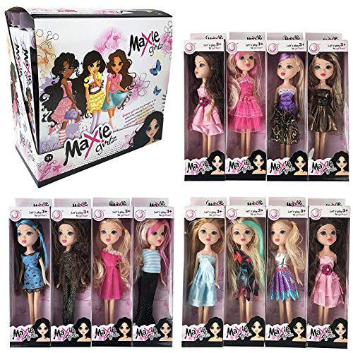 Liberty Imports Deluxe Case of 12 Fashion Beauty Princess Dolls – Different Dresses and Outfits in Individual Display Boxes – Girls Toys Bulk Party Favors Supplies (10-Inches) – The Super Cheap