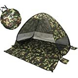 Lightahead Automatic Pop Up UV Resistant (UV50+) Sun Shade Portable Camping Tent Picnicing Fishing Hiking Canopy Easy Setup Outdoor Cabana Tents with Carry Bag