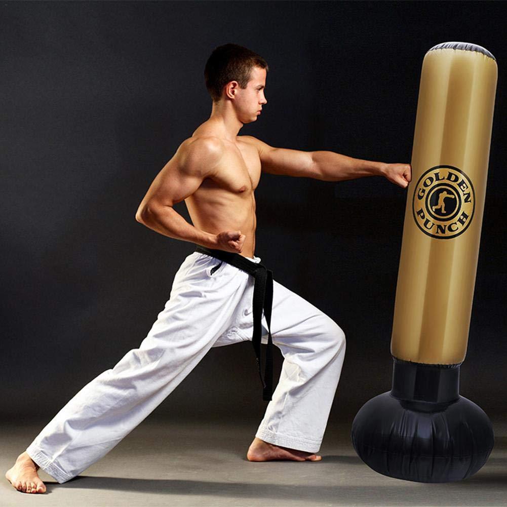saco de boxeo pesado premium bolsa de torre para ni/ños y adultos adultos Saco de boxeo inflable de fitness ni/ños independientes ejercicio juego objetivo saco de boxeo desestresante 5.25 pies