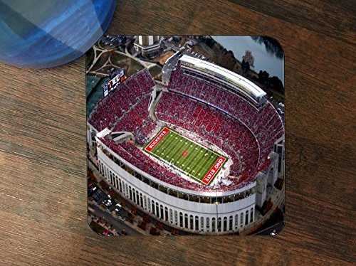 College Football Stadiums Silicone Drink Beverage Coaster 4 Pack by Compass Litho