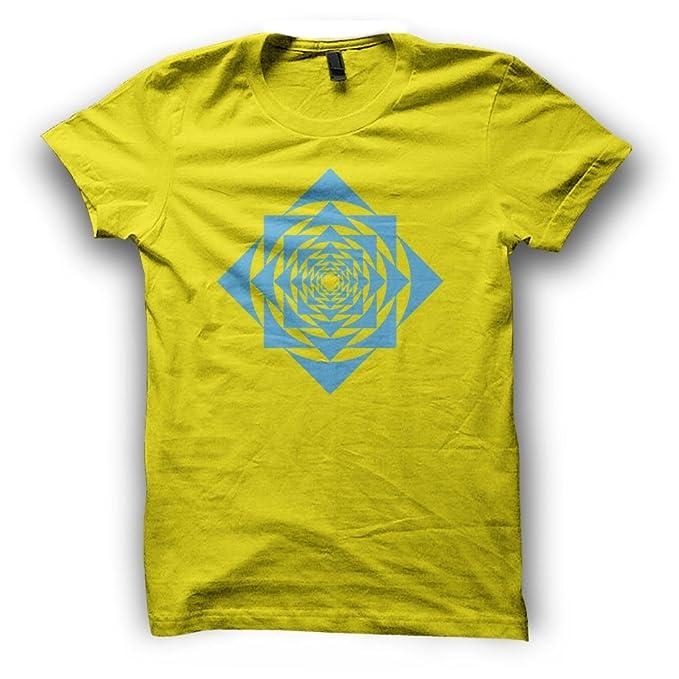 4efc025329bd Sacred Geometry Geometric Festival Clothing Mandala Flower of Life Square  Spiral Mens T-Shirt for