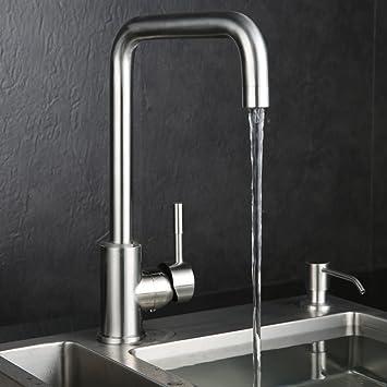 Kinse Küchenarmatur Spültischarmaturen Wasserhahn Küche, 360°drehbar ...