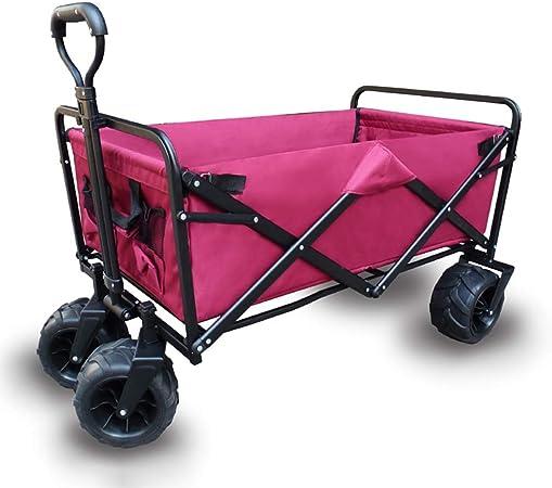 Yuan carretillas Carretilla Plegable de 4 Ruedas - jardín portátil del Carro Plegable Que acampa y Carro de DIY (Color : A): Amazon.es: Hogar