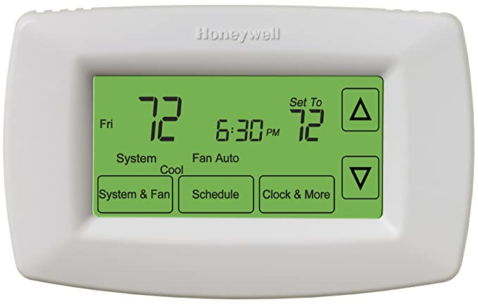 honeywell rth7600d touchscreen 7 day programmable thermostat rh amazon com Honeywell Thermostat Operating Manual honeywell thermostat rth7500d manual