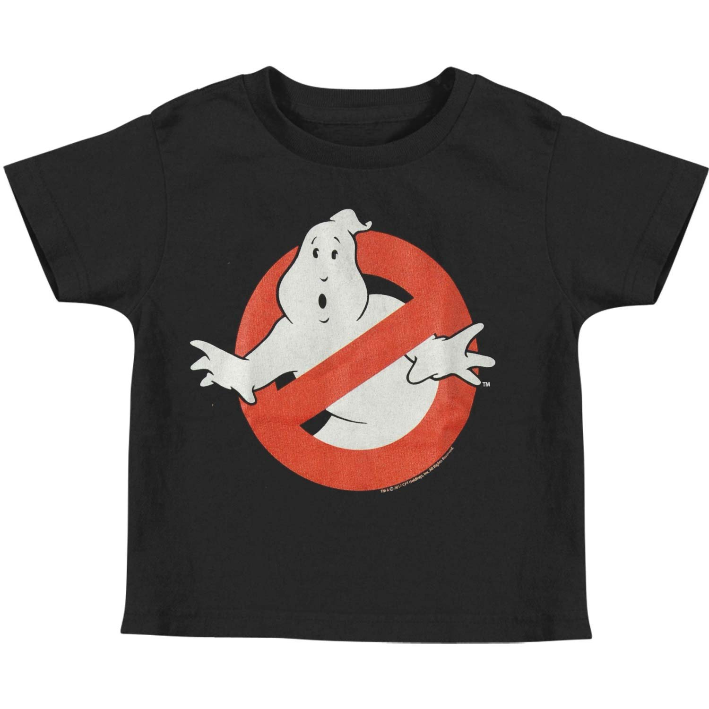 9dc5a491c Amazon.com: Ghostbusters Boys' Symbol Childrens T-Shirt Black: Clothing