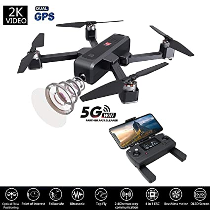 Salaheiyodd Bugs 4 W B4 W 5 G WiFi FPV Drone con cámara HD 2K, GPS ...