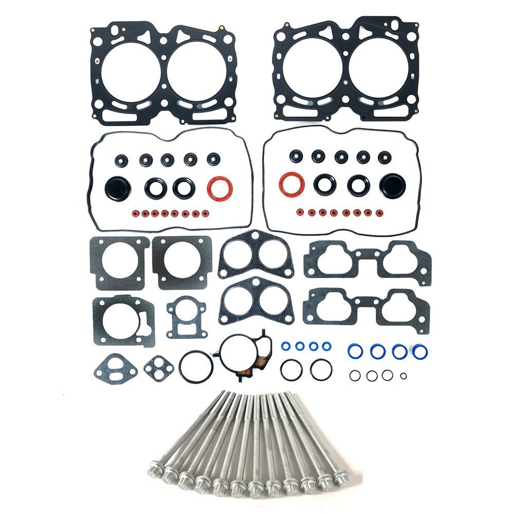 MPLUS Head Gasket Kit with Head Bolts Compatible for 1999-2003 Subaru Impreza & 1999-2003 Subaru Forester & 2000-2003 Subaru Outback/Legacy 2.5L H4 EJ25 Engine