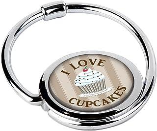 MISS KHA - Accroche Sac Pliable Love Cupcakes Marron CIRCLE-23