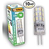 █ Vorfreude® ► 10x 1W G4 LED Bulbs 12v ► Pack of 10 ► 110,000 Hour, 5,500% longer life, 6000K Cool White Capsules Energy Saving Eco same as 20W Watts