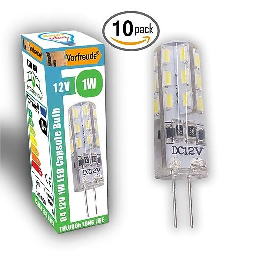 7 opinioni per █ Vorfreude® ► 10 x 1 W lampadine LED G4 12 V ► confezione da 10 capsule LED ►