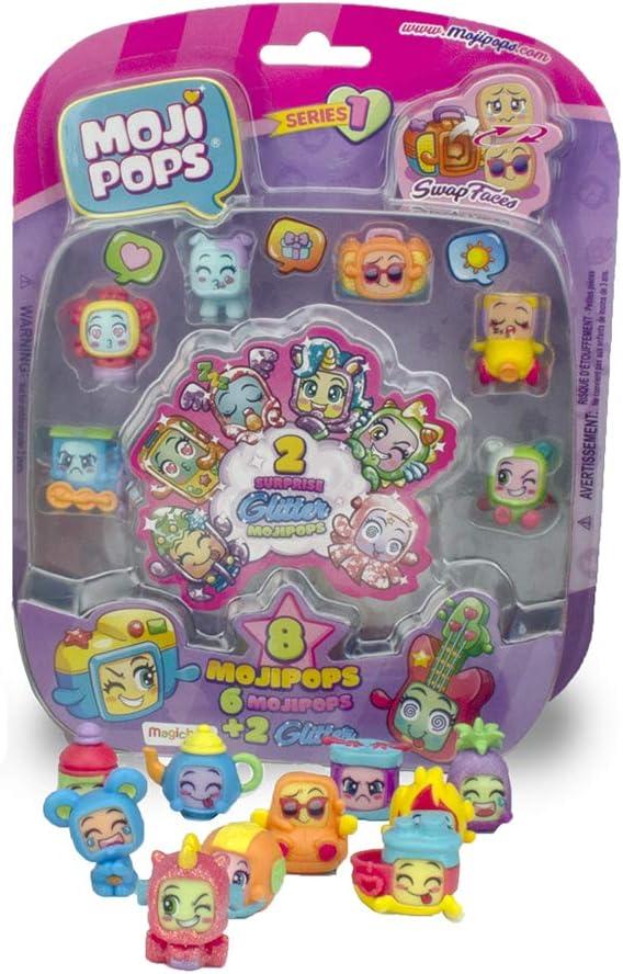 Pack de 8 mojipops Mojipops paillettes surprise série 1