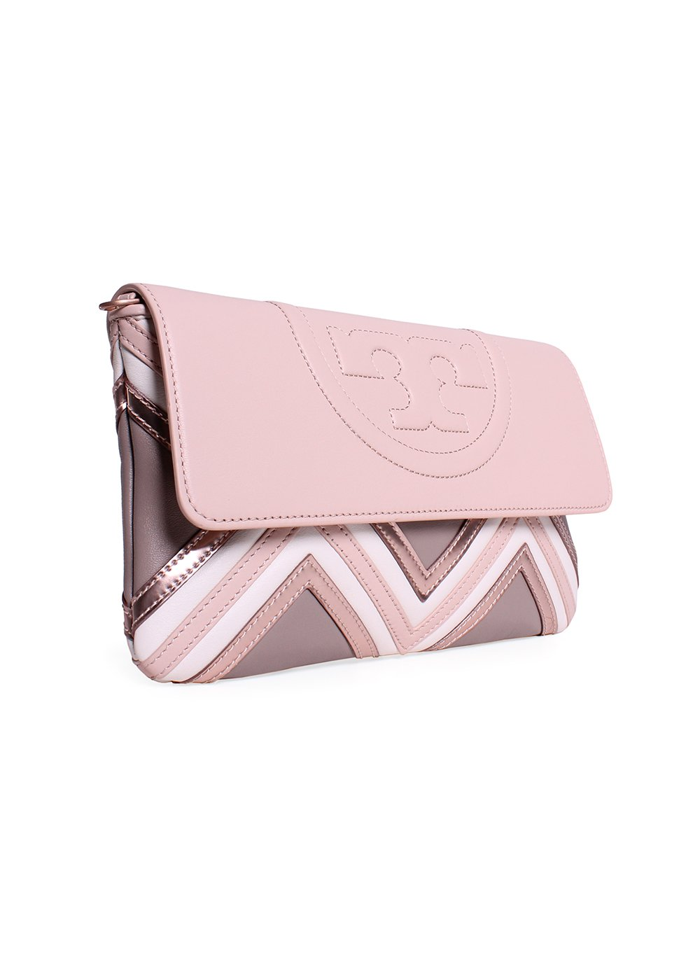 dd6f20061c0c Tory Burch Fleming Geo-Leather Clutch in Light Oak  Amazon.co.uk   Electronics