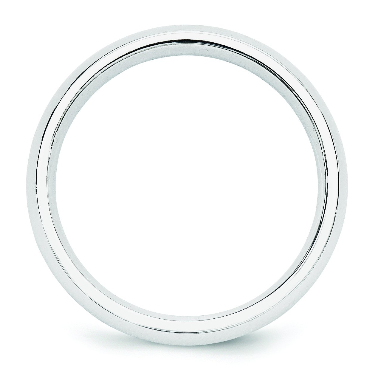 14k White Gold 5mm Standard Comfort Fit Band Size 14 by Saris and Things (Image #2)