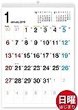 ボーナス付 2019年1月~(2020年1月付)タテ長スタンダード壁掛けカレンダー(六曜入) A3サイズ[G]